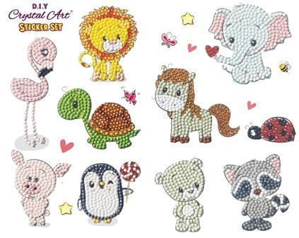 Animal Friends 21x27cm Crystal art sticker set